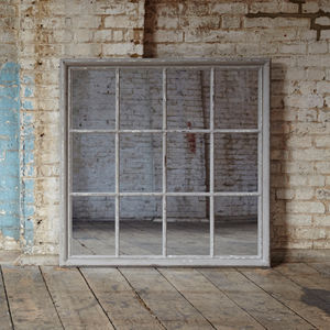 Wilton White Grid Mirror - mirrors