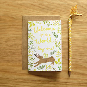 Illustrated New Baby Card