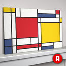 Mondrian Inspired Abstract Geometic Art Print