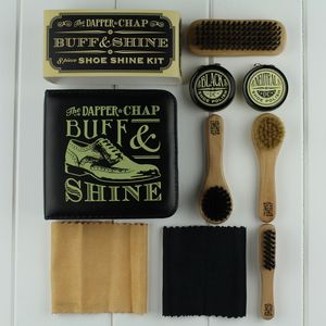 The Dapper Chap Shoe Shine Eight Piece Kit