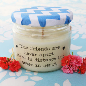 'True Friends' Friendship Candle - new in home