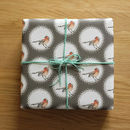 Recycled Illustrated Spot Bird Wrapping Paper