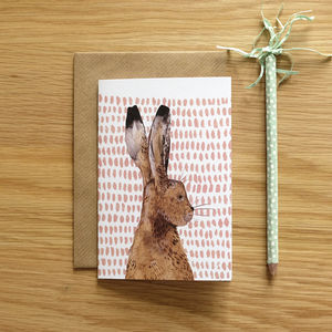 Recycled Hare Greeting Card - cards & wrap