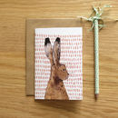 Recycled Hare Greeting Card