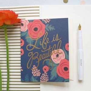 'Life Is Beautiful' Card