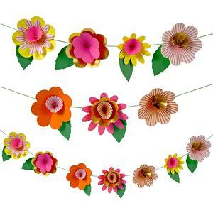 Neon Floral Flower Garland