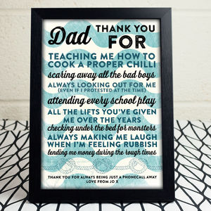 Personalised 'Thank You' Nautical Themed Print