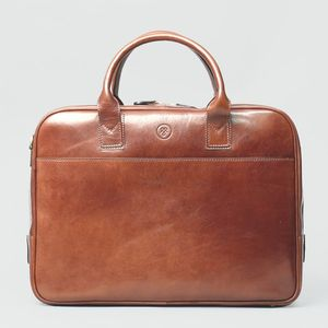 Luxury Leather Laptop Bag For Macbook. 'The Calvino' - laptop bags & cases