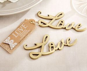 'Love' Gold Bottle Opener - unusual favours