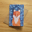Recycled Fox Greeting Card