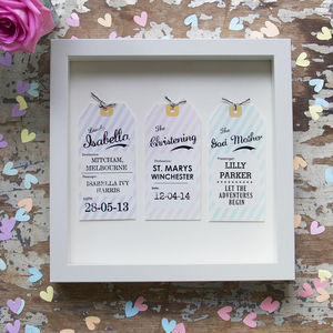 Personalised Luggage Tag Christening Gift