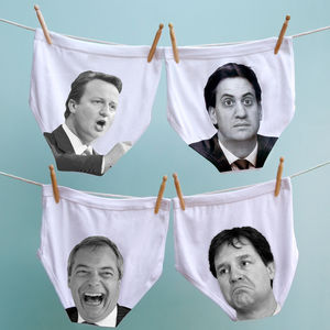 Election Collection Political Pants For Men And Woman - stocking fillers under £15