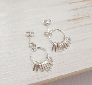 Shimmer Dainty Hoops - earrings