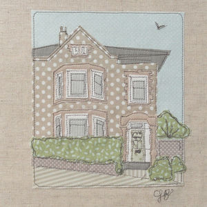 Personalised House Textile Illustration - shop by price