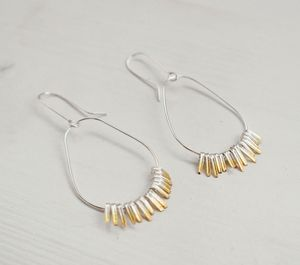 Shimmer Hoops - earrings