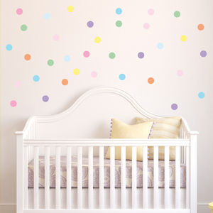 Confetti Spots Wall Stickers - children's room accessories
