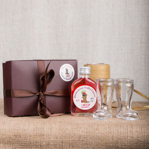 Wellington Boot Shot Glass Gift Box - christmas food & drink