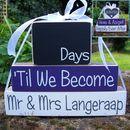 Reversible Personalised Wedding Countdown Date Blocks