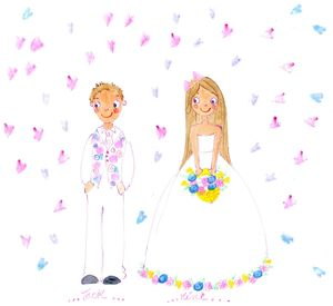 Personalised Flower Girl Illustration - page boy gifts