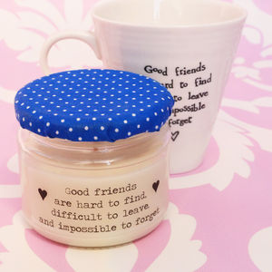 'Good Friends' Soy Wax Friendship Candle