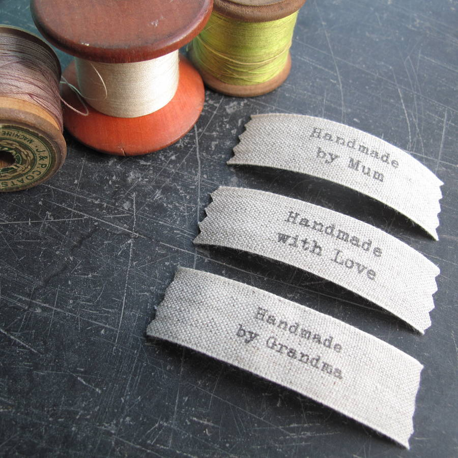 Sew In Hand Made Labels