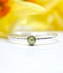 Sterling Silver And Peridot Ring - rings