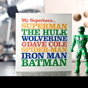 Famous Superhero Greeting Card - general birthday cards