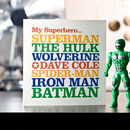 Famous Superhero Greeting Card