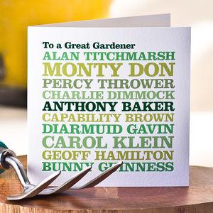 Celebrity Gardener Greeting Card