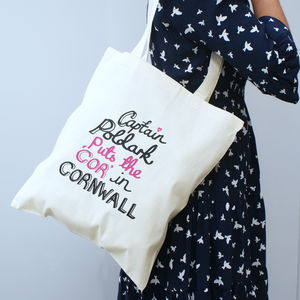 Captain Poldark 'Cor In Cornwall' Tote Bag - shopper bags