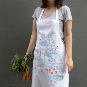 Allotment Printed Apron - kitchen accessories