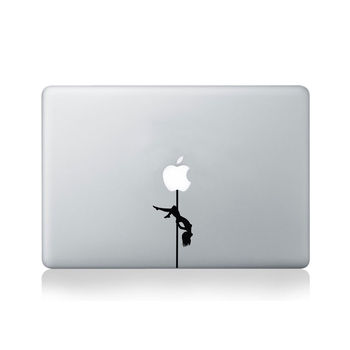 Pole Dancer Vinyl Decal For Macbook 13/15 Or Laptop