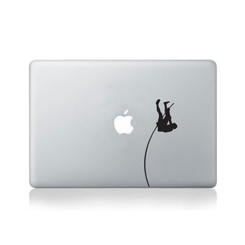 Pole Vaulter Vinyl Decal For Macbook 13/15 Or Laptop