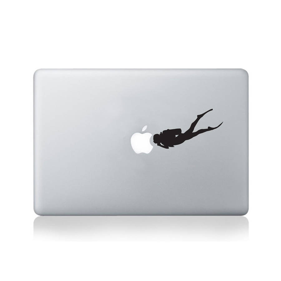 Scuba Diver Vinyl Decal For Macbook 13/15 Or Laptop