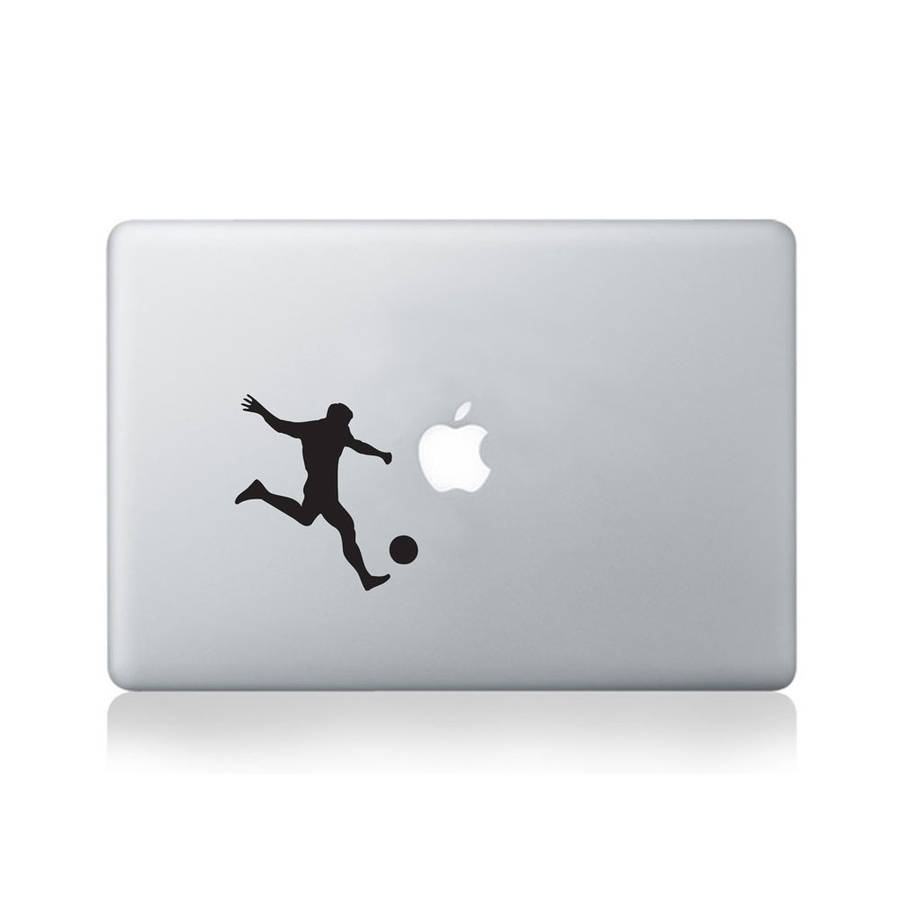 Soccer Player Vinyl Decal For Macbook 13/15 Or Laptop