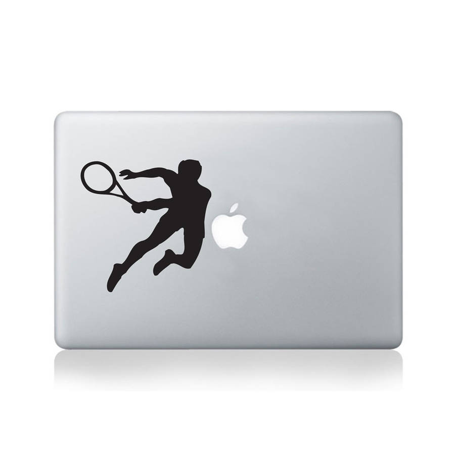 Tennis Player Vinyl Decal For Macbook 13/15 Or Laptop