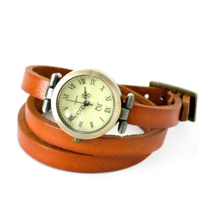 Leather Wrap Watch - watches