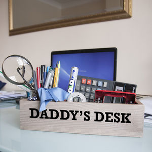 Personalised Desk Tidy Crate - view all father's day gifts