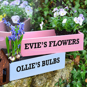 Personalised Mini Wooden Planter - pots & planters