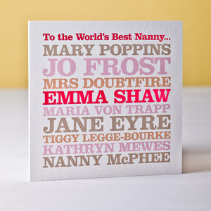 Famous Nanny Greeting Card - thank you cards