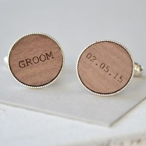 Groom Personalised Cufflinks