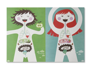 My Body Poster - posters & prints for children