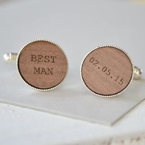 Best Man Personalised Cufflinks