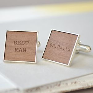 Personalised Best Man Engraved Cufflinks - men's accessories