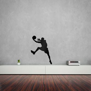 Basketball Player Layup Vinyl Wall Art Decal
