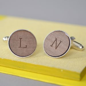 Engraved Personalised Initial Cufflinks - men's sale