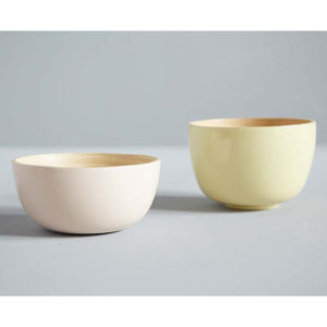 Alberte Pastel Lacquered Bamboo Bowls