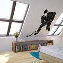 Hockey Player Vinyl Wall Art Decal