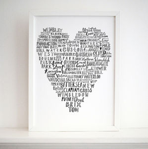 'My Heart Belongs To London' 30x40 Cm Print - home accessories