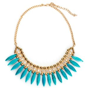 Forever Fanned Statement Necklace